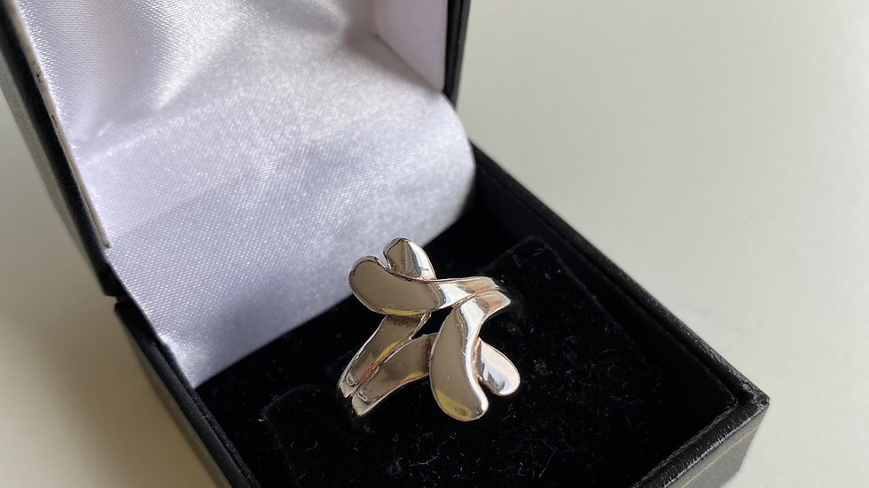 925 Silver X Ring