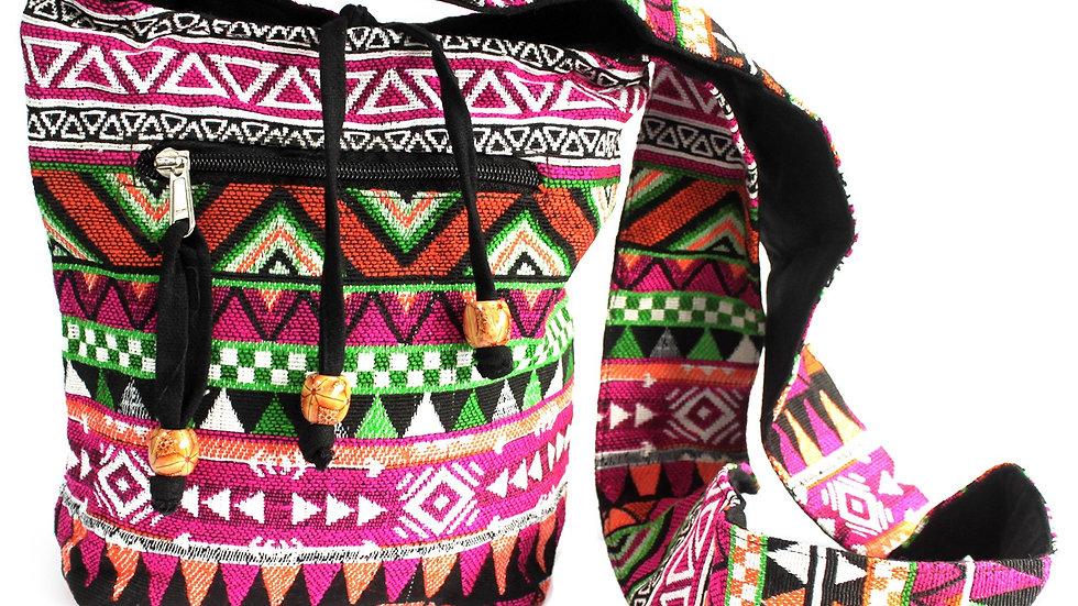 Jacquard Pink Sling Bag