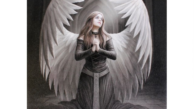 Prayer for the Fallen Anne Stokes Canvas Picture 25cm X 19cm