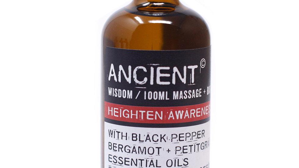 Heighten Awareness Massage Oil + Bath Oil