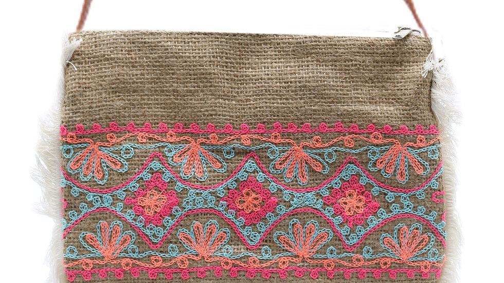 Summer Pattern Fringe Bag