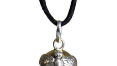 Silver Animal Bell Necklace Dragonfly