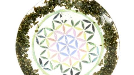 Orgonite Power Pendant Greenstone Mandala