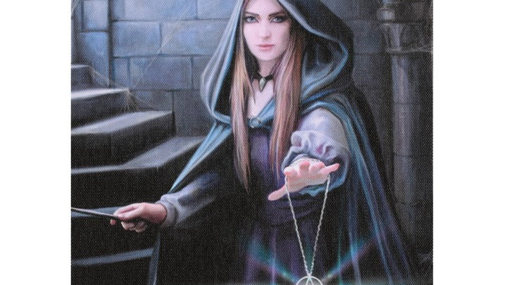 Light In the Darkness Anne Stokes Canvas Picture 25cm X 19cm