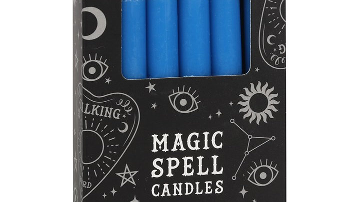 Spell Candles Blue Wisdom