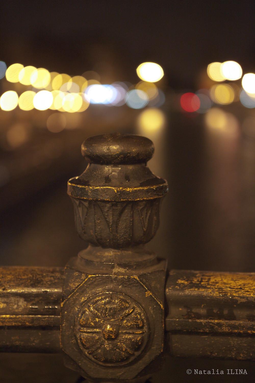 Перила моста, которым заканчивается ул. Лафайет (rue LaFayette)