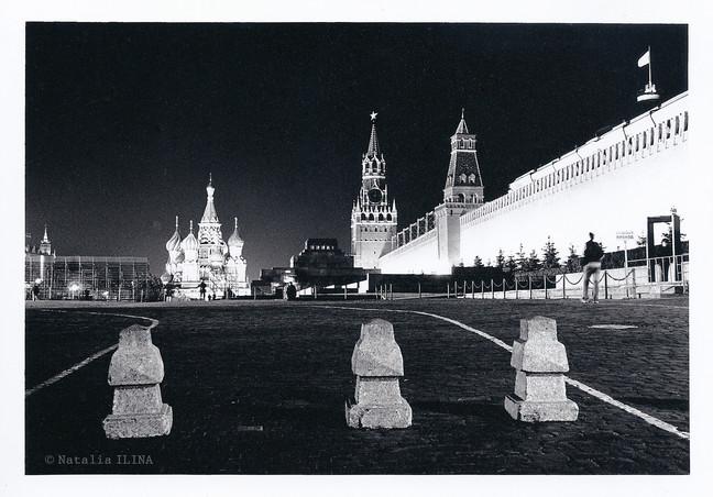 Фотография красной площади ночью