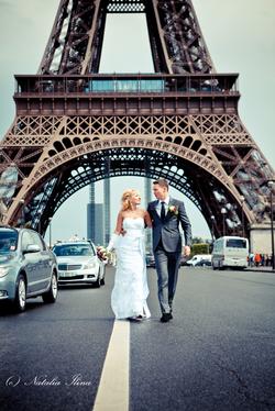 Мост перед Эйфелевой башней