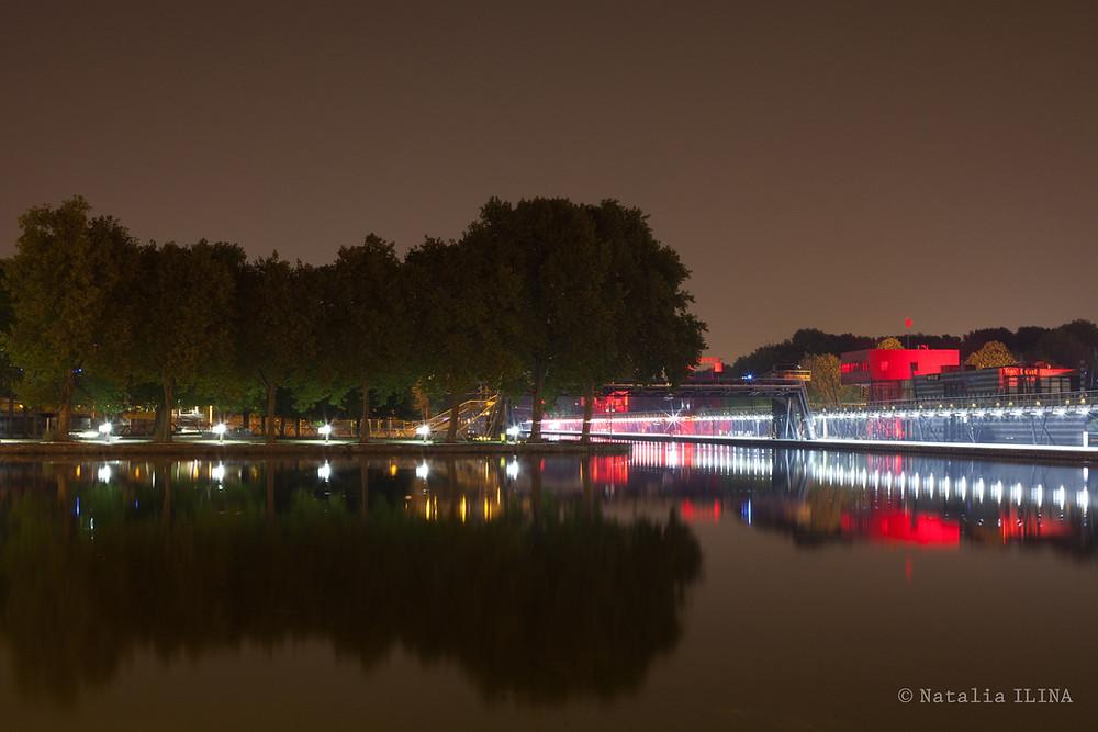 Ночное фото канала Saint-Martin