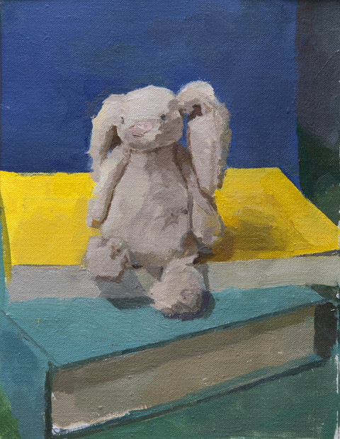 Bunny and Books - Sold