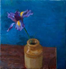 Iris in a Ceramic Jar - Sold