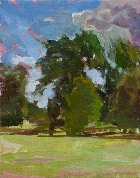 Kensington Gardens on a Blustery Day