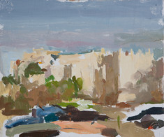 From Damascus Gate Looking East - Sold