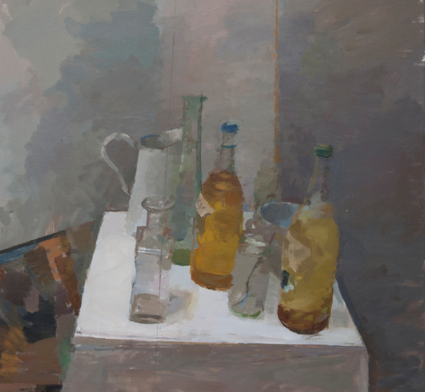 Still Life with Jug and Bottles - Sold