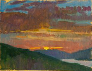Montenegro Sunset, Magenta Clouds