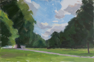 Clouds and Dark Trees, Kensington Gardens - Sold