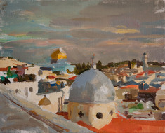 Two Domes, Sunset - Sold