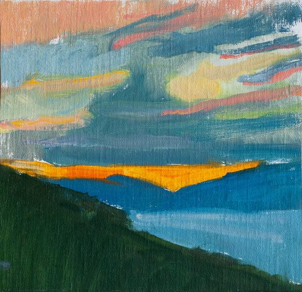 Orange Sunset, Montenegro - Sold