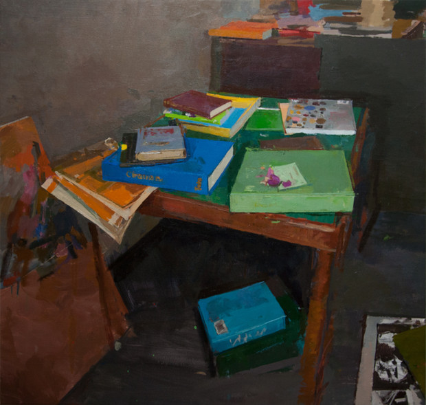 Books on a Table no 2 - Sold