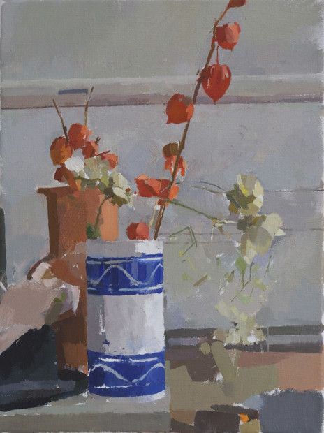 Vase with Chinese Lanterns - Sold