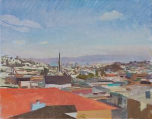 View towards the Bay, Morning, San Francisco - sold