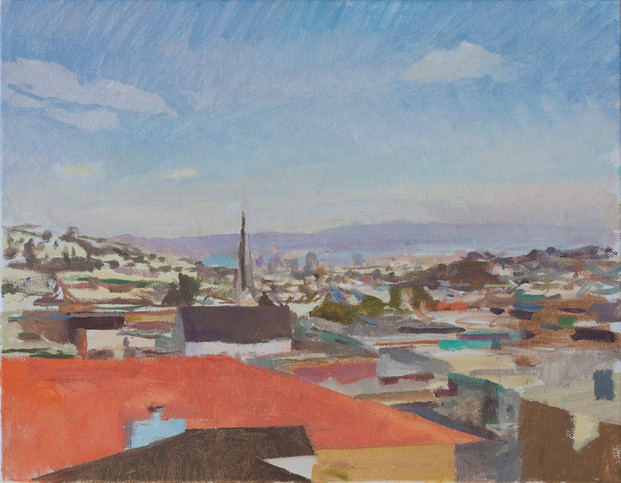 View towards the Bay, Morning, San Francisco - sold