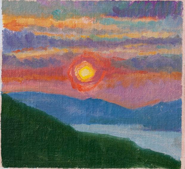 Orange, Purple, Pink Sunset - Sold