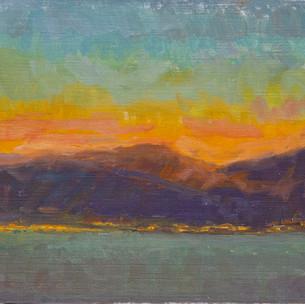 Sunset Montenegro, Orange and Teal