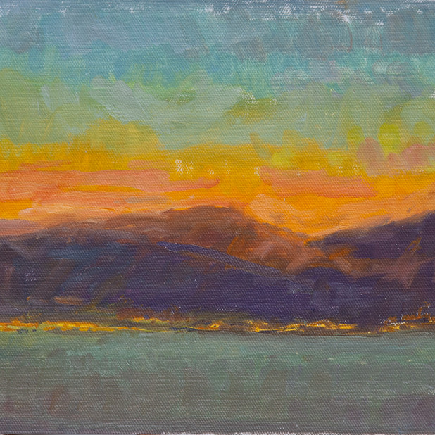 Sunset Montenegro, Orange and Teal
