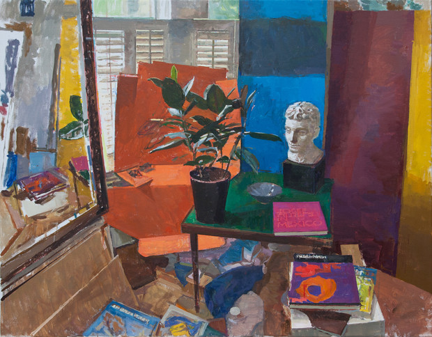Still Life with Ficus and Plaster Bust