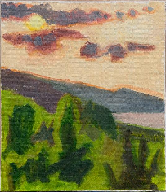 Sunset Montenegro, Light on the Trees
