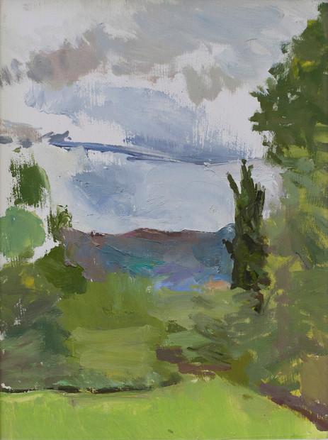 Small Landscape Lucignano - Sold