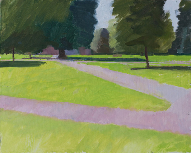 Kensington Gardens, Pink Path - Sold