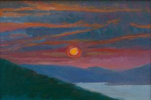 Montenegro Sunset, Yellow Sun