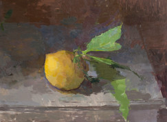 Lemon on a Grey Table - Sold