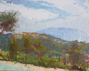 Zakynthos, trees by the pool no. 1 - Sold