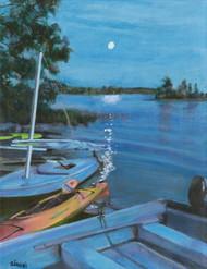 Moonlight on Pemiquid Pond