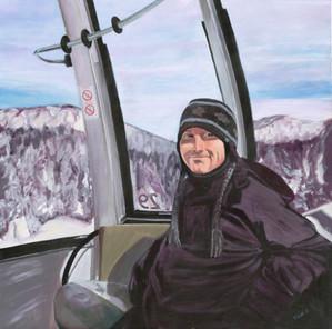 Skier in Gondola
