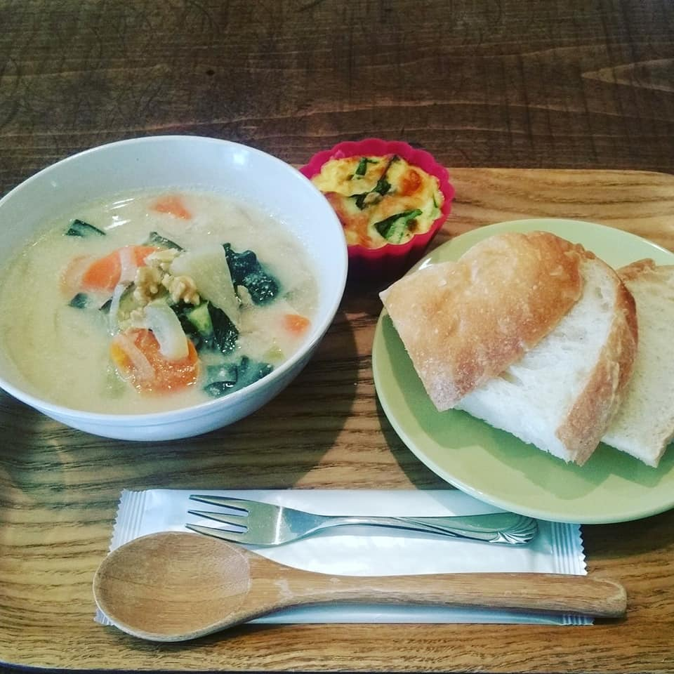 豆乳白味噌スープ