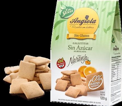 Angiola - Galletita Sin Azúcar - Naranja