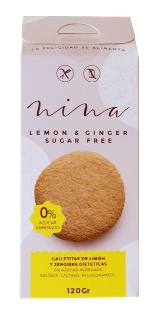 Nina - Galletitas Sin Azúcar - Limón y Jengibre