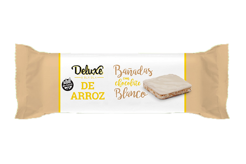 Deluxe & Blabla - Galletitas de Arroz Integral - Chocolate Blanco