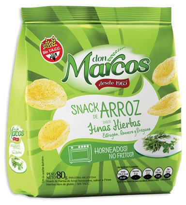 Don Marcos - Snack de Arroz - Finas Hierbas