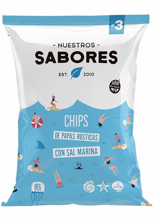 Nuestros Sabores - Chips de Papas Rústicas - Sal marina