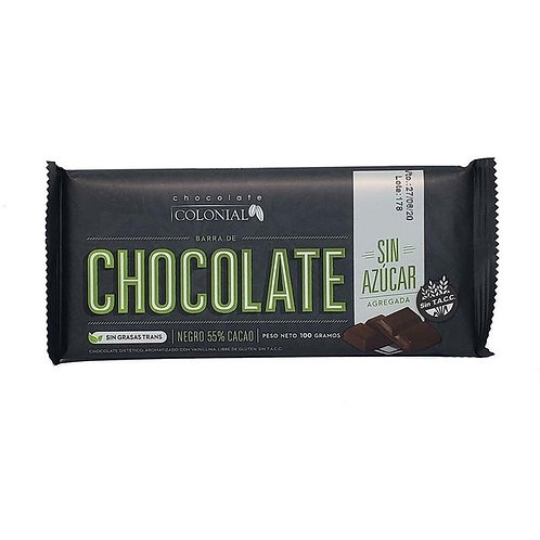 Colonial - Chocolate Sin Azúcar - 55% Cacao