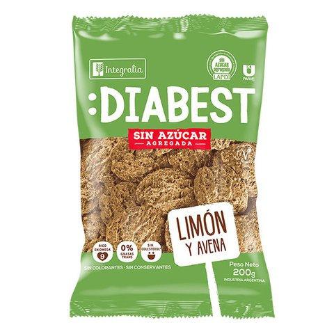 Integralia Diabest - Galletitas - Limón y Avena