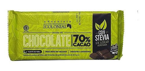 Colonial - Chocolate Con Stevia - 70% Cacao