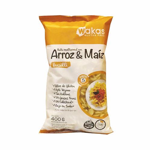 Wakas - Fusilli Pasta Multicereal - Arroz y Maíz