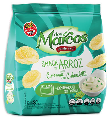 Don Marcos - Snack de Arroz - Crema Ciboulette