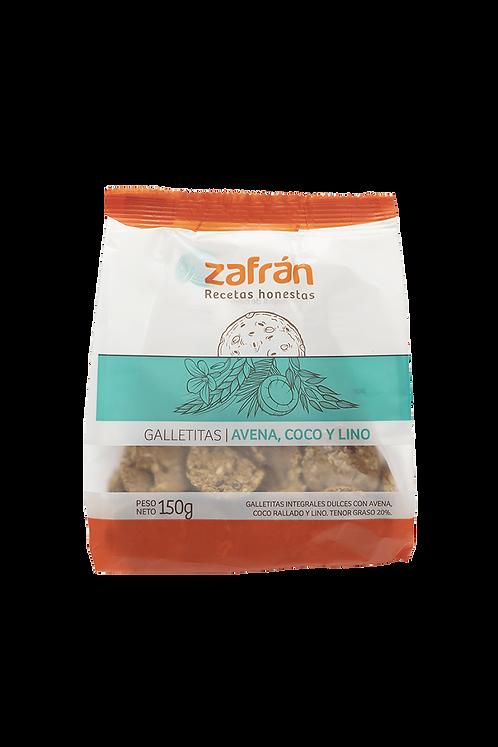 Zafrán - Galletitas - Avena, Coco y Lino